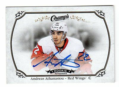 Andreas Athanasiou Nhl 2015-16 Upper Deck Champ's Autographs (Detroit Red Wings)