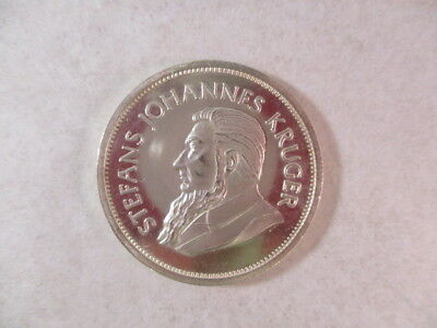 1967 South Africa Krugerrand 1 oz 999 Silver Coin Proof-Like Fine