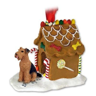 Airedale Terrier Dog Ginger Bread House Christmas ORNAMENT