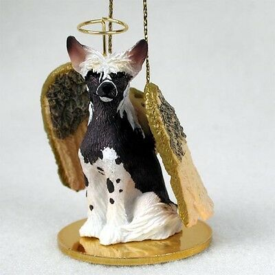 Chinese Crested Dog ANGEL Tiny One Ornament Figurine Statue