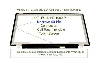 """Lenovo ThinkPad T470S 14"""" FHD IPS Lcd Screen Touch in Cell 00UR895 IVO"""