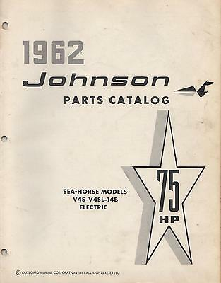 1962 Johnson Seahorse Outboard 75 Hp, V4S-V4Sl-14B Electric Parts Manual (225)