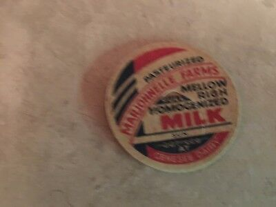 Milk Bottle Cap Marjohnelle Farms Genesee Dairy
