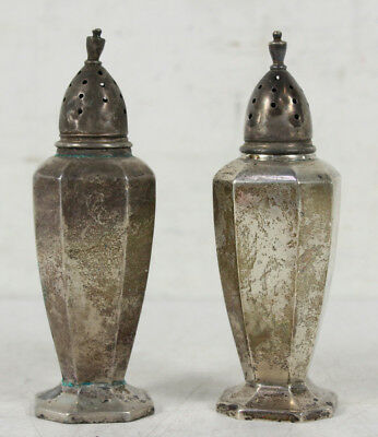 Vintage Sterling Silver wt. 0.33 Salt And Pepper Shakers