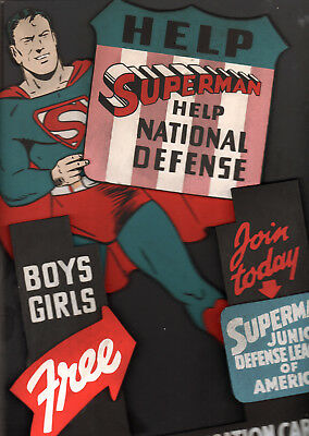 Ww Ii Superman Store Standee Sign  For The Superman Defense League