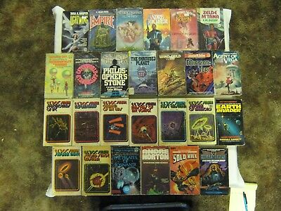 Science Fiction Paperback Books Lot Of 26 Vintage Sci Fi