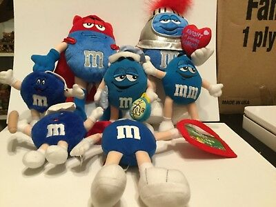 Cute lot of 7M & M candies plush collectibles, all different