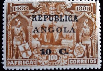 Portuguese Angola,1913,ovrpt/surcharg 100r stamp of Port Africa (SC198),MNH