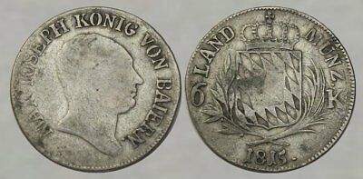 * 200 Year Old * GERMAN COLONIAL SILVER COIN dated 1815 - NICE DETAIL