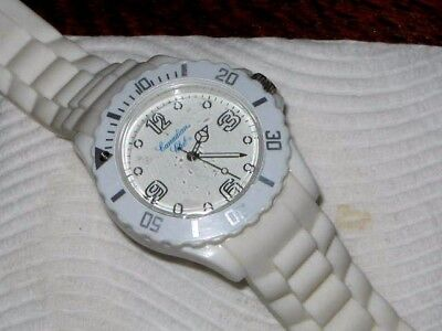 Canadian Club White Acrylic Watch on White Rubber Band 25cm Watch 4.5cm Wide