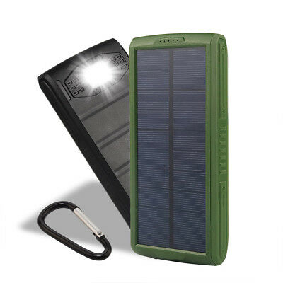 New 50000mAh Solar Power Bank 2USB LED Portable Battery Charger For Cell Phone