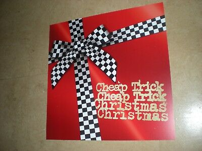 POSTER / flat by CHEAP TRICK  Promo For the christmas album cd LOT