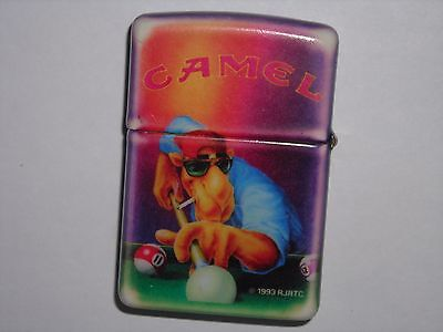 Camel Zippo Lighter 1993 Cz17 2 Sided Rare Camel Joe Pool Player Nice Condition