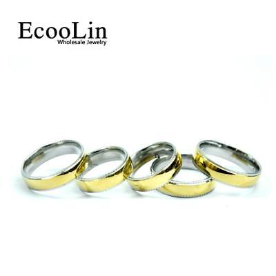 5pcs 316 Stainless Steel Rings 3 Colors Mixed For Women Men Fashion Lots Jewelry