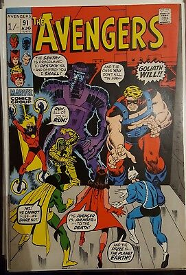 AVENGERS # 91, (1st SERIES / AUGUST 1971 / FN+ / Pence Copy)