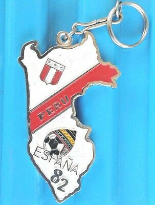 Peru Keychain Wold Cup Soccer FIFA Spain 82
