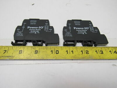 POWER IO IO-OAC-280 AC Interface Module 3A Fuse Lot of 2
