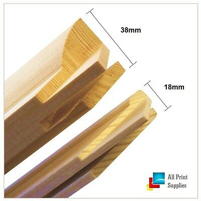 Canvas Stretcher Bars,Canvas Frames, Pine Wood 18mm & 38mm Thick-Sold By Pair.-B