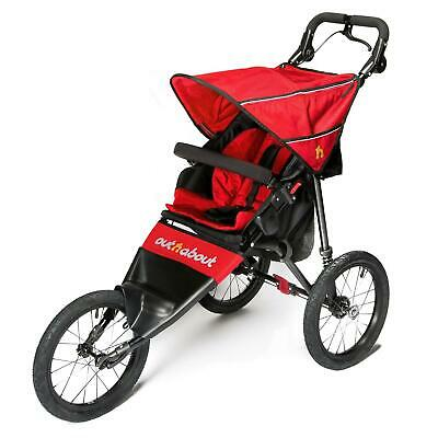 Out n About Nipper Sport V4 Jogger (Carnival Red) Running Buggy ON SALE! WAS£355