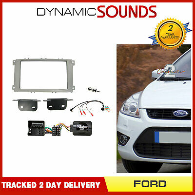 CT23FD10 Black Double Din CD Fascia Fitting Kit For Ford Focus 2007-2011