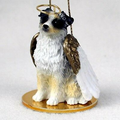 Australian Shepherd Blue Dog ANGEL Tiny One Ornament Figurine Statue
