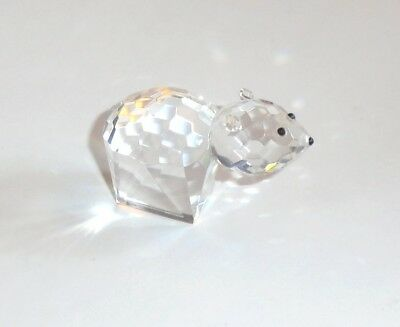 Miniature Faceted Crystal Bear Figurine