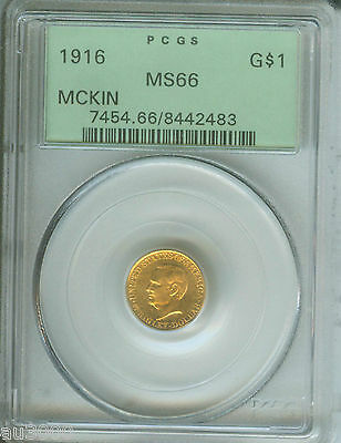 1916 G$1 Gold Commemorative Dollar $1 Mckinley Pcgs Ms66 Old Green Holder Ogh