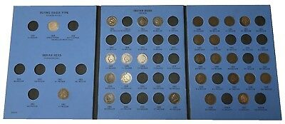 Partial Collection Indian Head Cents Whitman 9003 Some Key/tough Dates