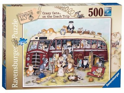 Crazy Cats - Vintage Bus 500 Piece Jigsaw Puzzle