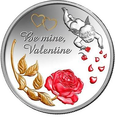Niue 2014 2$ Be mine Valentine Angel Love Proof .999 1oz Silver Coin