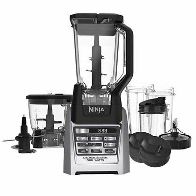 Ninja Auto-iQ Total Boost Kitchen Nutri Food Processor Blender System with Cups