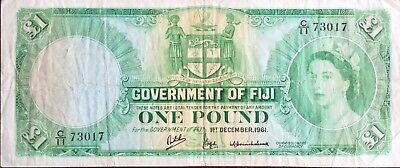 Government of Fiji -- One Pound -- 1961 -- RaR