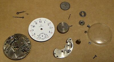 Omega watch movement, incomplete, for repair or parts, 30mm diameter approx.