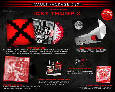 THE WHITE STRIPES  ICKY THUMP X *VAULT 33* Complete Set  Third Man Records