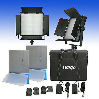 Sparbundle 2 Bi-Color LED Panels LEDGO LG-600CSC DIGITAL mit Transportkoffer