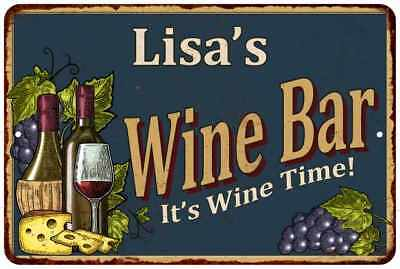 Lisa's Wine Bar Chic Rustic Green Sign Home Décor Gift Cave 81211075