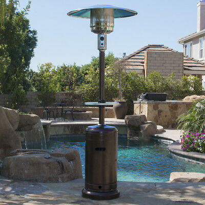 propane patio heater with table. Beautiful Table 48000 BTU Outdoor Propane Patio Heater LP Gas With Adjustable Table And  Wheel Intended With
