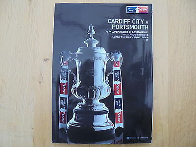 2008 Fa Cup Final Programme And Ticket - Cardiff City V. Portsmouth
