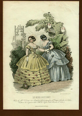 Mode Damenmode Ladies `Fashion No 2, franz Stahlstich ca. 1855