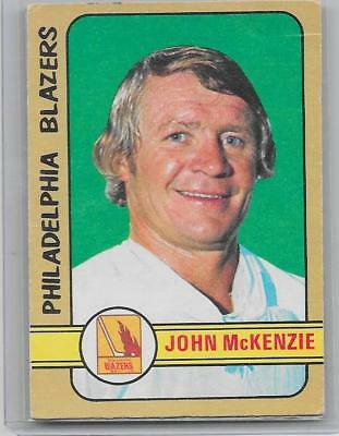 1972-73 OPC O-Pee-Chee hockey John McKenzie High Number WHA card #338 EX++ SP