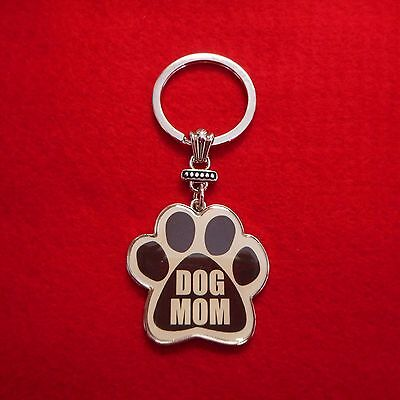 "NEW ""DOG MOM"" Paw Print Keychain for the Pet Lover!"