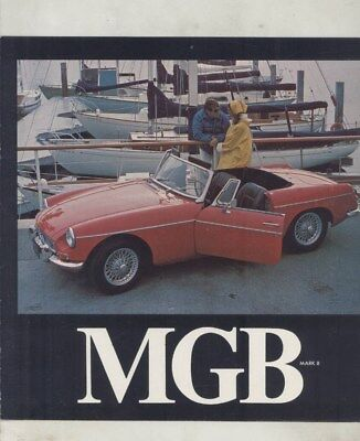 1968 MG MGB Mark II Brochure Revised Damaged wy8211