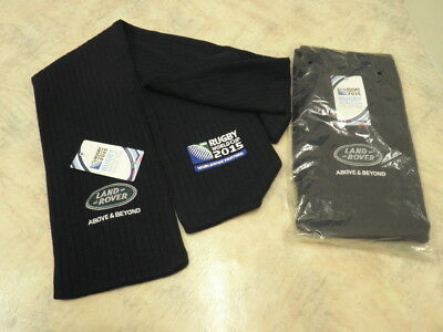 """Land Rover Above & Beyond 2015 Rugby World Cup Scarf BNWT Slate Blue 4' 6"""""""