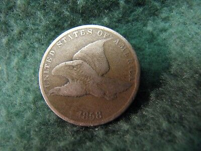 1858 U.S.Flying Eagle Cent  Gorgeous Flying Eagle Penny  HIGH GRADE !