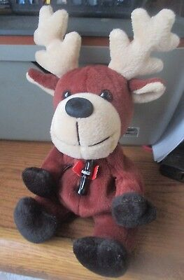 1998 Coca-Cola Sweden Baltic the Reindeer Mini Bean Bag-Beanie