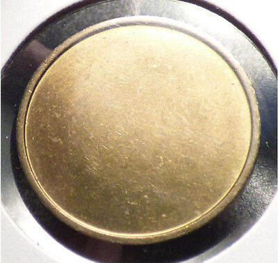Unknown Planchet, Coin Blank, 22 mm, 6.33 grams, 2 mm Thick, Raised Rims
