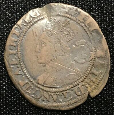 1560-1561 Elizabeth I Silver Threepence Great Britain Coin