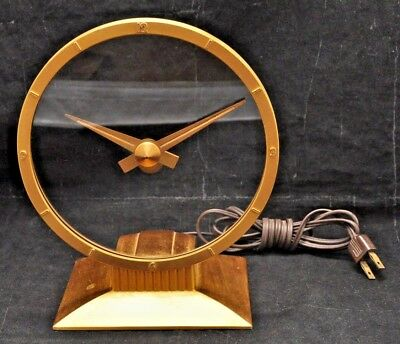 VTG Mid Century Jefferson Golden Hour Mystery Dial Clock - Works