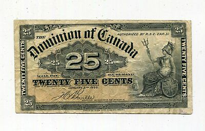 Dominion of Canada 1900 25 Cents Banknote