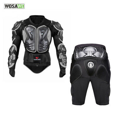 Motorcycle Body Protection Armor Protective Jacket Shorts Spine Chest Hip Guard